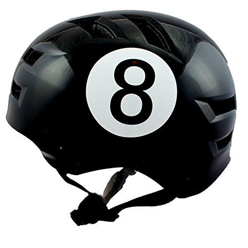 Skullcap BMX Helm  Skaterhelm  Fahrradhelm , Mountainbike, schwarz, Größe L, Black-8