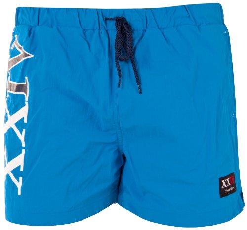 Twentyfour Bade Shorts Storm mit norwegischen Akzenten Blau