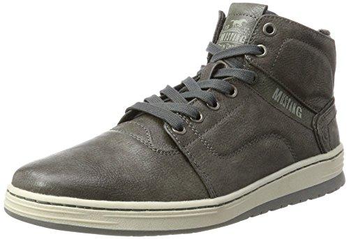 Mustang Herren 4117-501 Hohe Sneaker, Grau (Dunkelgrau), 42 EU