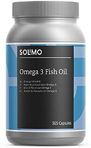 Marchio Amazon- Solimo Integratore alimentare di olio di pesce con omega 3, 365 capsule