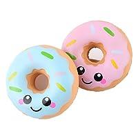 Kfnire donuts kawaii squishy juguete juguete de alivio de tensión de levantamiento lento para niños adultos, 1pc, Color aleatorio de Kfnire