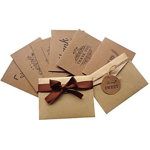 48 Sets | Faltkarten SET Glückwunschkarten Hochzeit Klappkarten mit Umschlägen A6 | Doppel-Karten & Briefumschläge aus Premium-Papier, 15 x 10 cm | ideal für Weihnachten, Geburtstag, Einladungen und Danksagung (#5, 6 Karten-Sets)