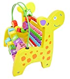 #9: Generic Giraffe Wooden Abacus Activity & Counting Toy - Multi Color