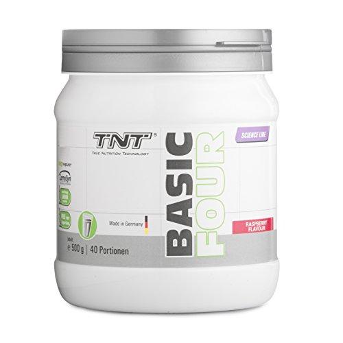 Pre Workout Booster Fitness – Creapure Creatin-Monohydrat, Tyrosin, Beta-Alanin – Trainingsbooster / 500g RASPBERRY