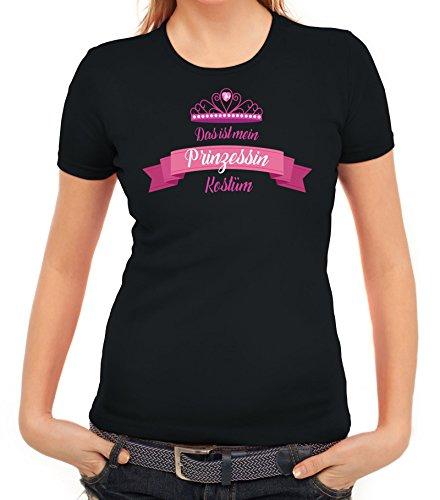 ShirtStreet Fasching Karneval Damen T-Shirt mit Das IST Mein Prinzessin Kostüm 2 Motiv von, Größe: ()