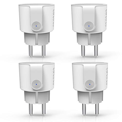 Wlan Smart Steckdose, Ale xa Smart Plug Avatar Controls Wifi Stecker Funksteckdosenset mit fernbedienung Kompatibel mit Google Home/IFTTT Smart Life App(4 pack) Plug Pack