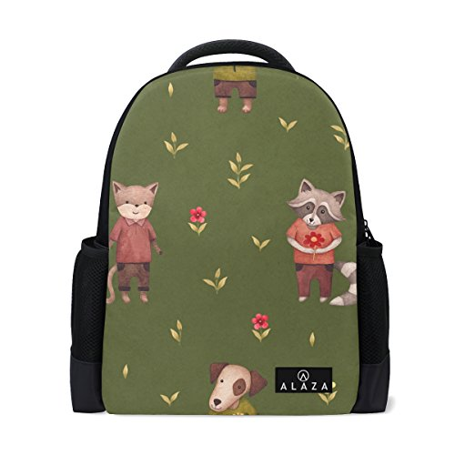 My Daily cute Fox Animal Flower–Zaino zaino Bookbag per viaggi College scuola
