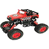 US1984 High Speed Model 4x4 Pull Back Car Truck , 4WD 7 Inch Racing Climbing Off Road Metal Car, Big Rubber Tires, Metal Suspension With Openable Doors (Multi Color)