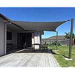 AXT SHADE Sonnensegel Wasserabweisend, Sonnenschutz imprägniert PES Polyester mit UV Schutz für Terrasse, Balkon und…