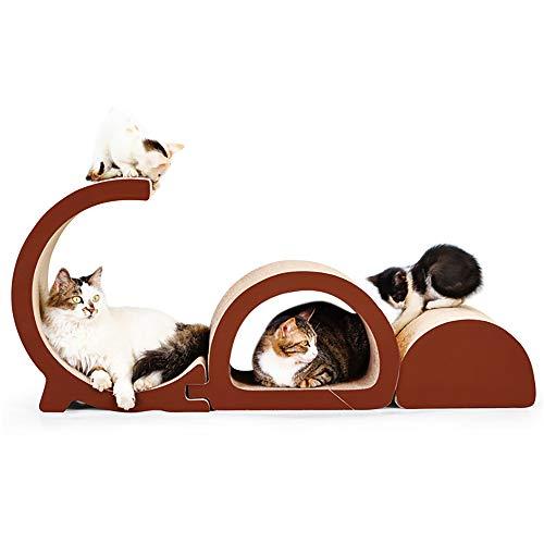 aum Kratzmöbel Kratzbrett Qualitäts Pappe + Katzenminze für Katzen ''Lounge'' Natur (in Hochwertiger/anspruchsvoller Kartonage-Ausführung) ()