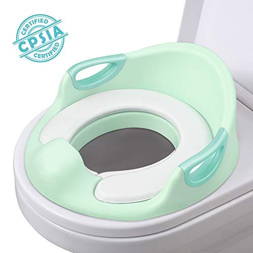 AiKiddo Töpfchentrainer Kinder | Kinder Toiletten | Toilettensitz Baby | Sitz Toilette Töpfchen Training für Kinder von 1-7 Jahren (Grün)
