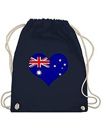 Australien Australische Flagge Karte Schlüsselring Schlüsselanhänger oder