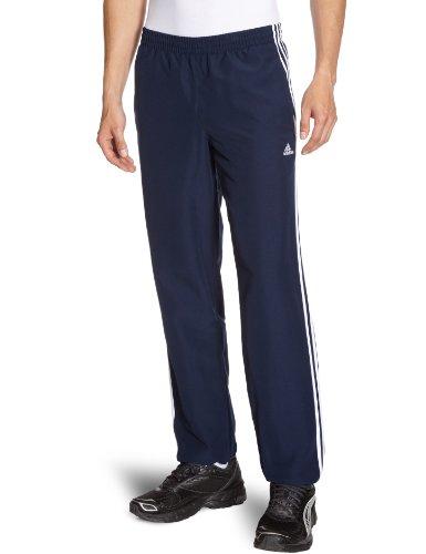 adidas, Pantaloni Uomo Ess 3 Stripes Woven Closed Hem, Blu (collegiate navy), S