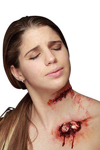 Trucco halloween: finta ferita con punti di sutura