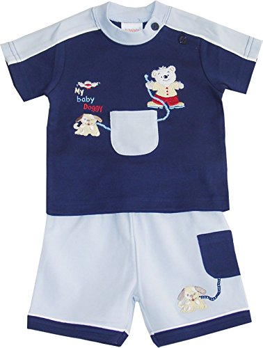 Schnizler My Baby Doggy mit Bermuda und T-Shirt - Set De Vêtements Garçon, Bleu (original 900), 56 Schnizler