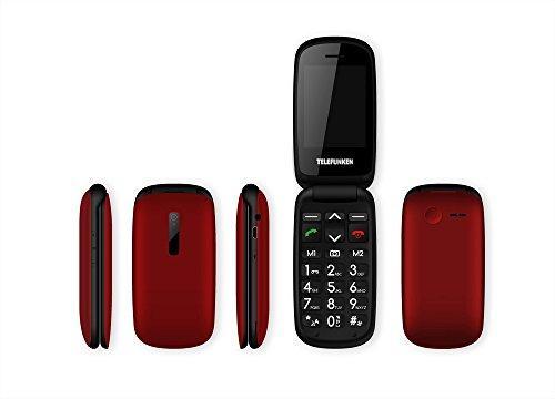 Telefunken TM220 - Móvil de Teclas Grandes (2.4') Color Rojo