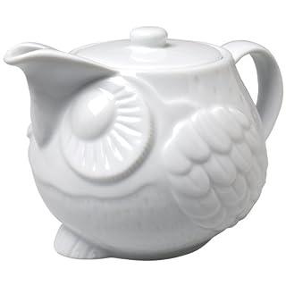 Abbott Collection White Sitting Owl Teapot