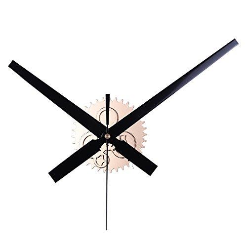 Lommer Groß Lautlos Vintage Uhrwerk Uhr Mechanismus Metall Wanduhr Mechanismus Zifferblatt Bewegungs Uhr Zeiger Kit für Wanduhr DIY, Minutenzeiger 30cm, Stundenzeiger 23.5cm (Gold) -