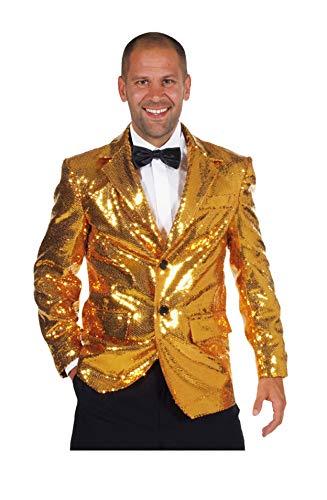 M210211-90-XL Gold Herren Pailletten Jacke Jackett Sakko Kostüm Gr.XL=60