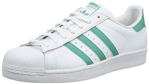 adidas Superstar, Scarpe da Ginnastica Uomo, Bianco True Green/Ftwr White, 46 EU