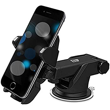 ELV Car Mount Adjustable Car Phone Holder Universal Long Arm, Windshield for Smartphones - Black