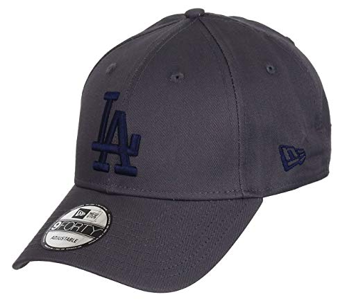 New Era Los Angeles Dodgers New Era 9forty Adjustable Cap League Essential Grey/Navy - One-Size