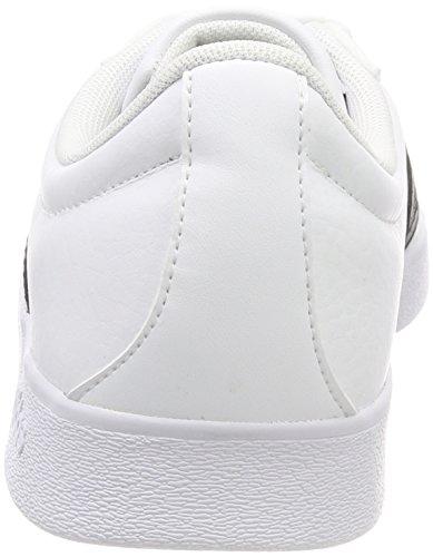 adidas Herren VL Court 2.0 Gymnastikschuhe Schwarz (Ftwr White/core Black/core Black)
