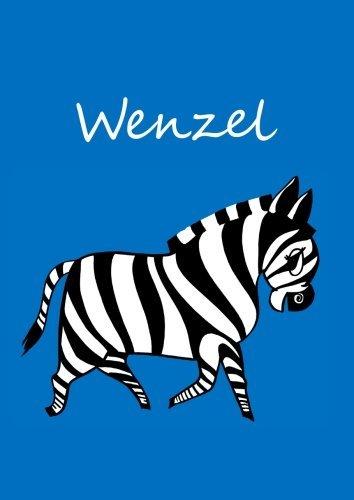 wenzel-individualisiertes-malbuch-notizbuch-tagebuch-zebra-a4-blanko