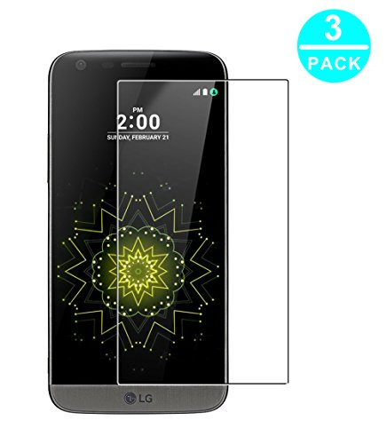 WEOFUN LG G5 Panzerglas Schutzfolie,[3 Stück] Ultra-klar Panzerglas für LG G5 [9H Härtegrad, 99% Transparenz]