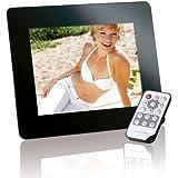 Intenso Photopromotor Digitaler Bilderrahmen (20,3cm (8 Zoll) Display, SD Kartenslot, Fernbedienung) schwarz