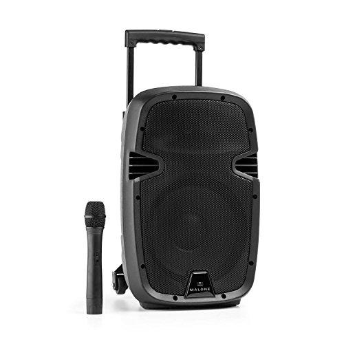 Malone Bushfunk 25 Aktiv-PA-Lautsprecher 500W Bluetooth Akku USB SD MP3 VHF
