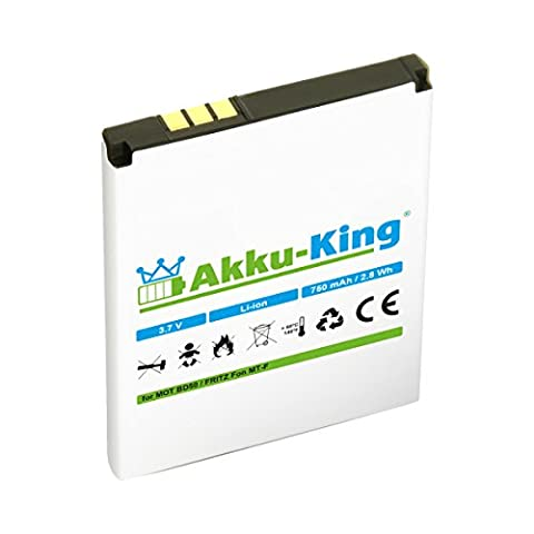 Akku-King Akku für AVM Fritz!Fon MT-F, M2, C4, C5, Motorola MOTOFONE F3 - ersetzt BD50, SNN5796A, 312BAT006 Li-Ion -
