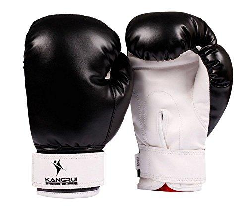 Child Boxen - Kickboxhandschuh volle Finger-Handschuhe -MMA ----- Schwarz