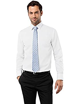Vincenzo Boretti Camicia da uomo Regular Fit stirare Uni