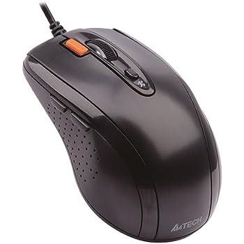 A4Tech N-70FX USB Óptico 1600DPI mano derecha Negro - Ratón (mano derecha,