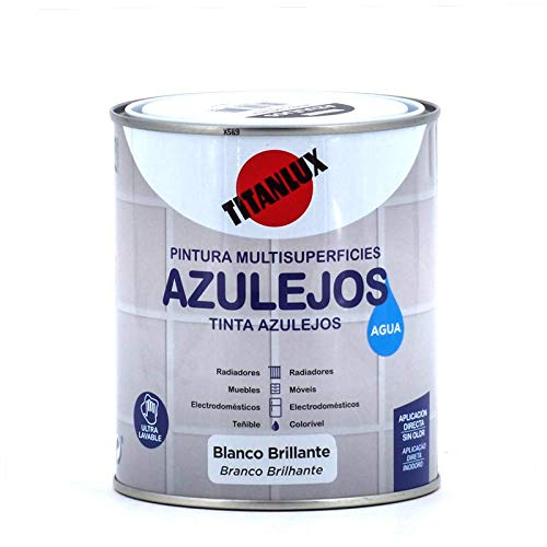 Esmalte Azulejos Agua Titan Blanco 750 ml