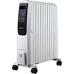 Pro Breeze Radiateur Numerique à Bain d'Huile avec 10 Colonnes, Minuteur Intégré, 4 Puissances de Chauffage,Thermostat, 2500W, Télécommande