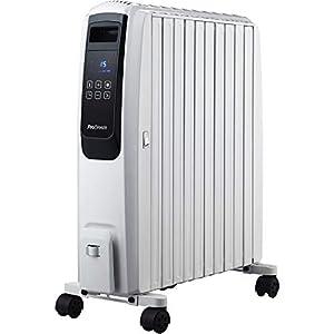 Pro Breeze Digital Radiador de Aceite 2500W – 10 Elementos, 4 Configuraciones de Calor, Temporizador y Termostato