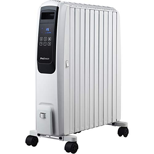 Pro Breeze Digital Radiador Aceite 2500W - 10 Elementos
