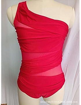 Una pieza _ en traje de baño moderno y cómodo bikini l split multi-color, rojo ,XXXL