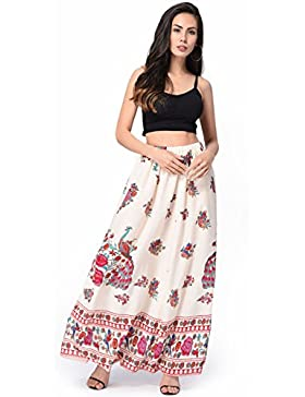Falda larga elegante del ocio flojo suave de la gasa de las mujeres