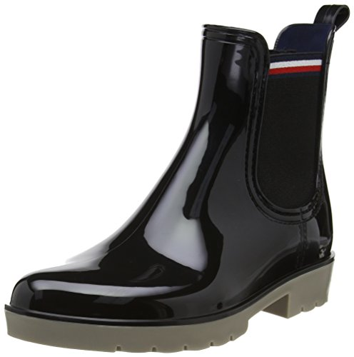 Tommy Hilfiger O1285laya 1r, Stivali di Gomma Donna Nero (Black)