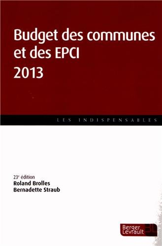 Budget des communes et des EPCI 2013
