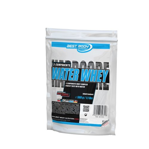Best Body Nutrition Hardcore Water Whey Delicate Strawberry Beutel, 1er Pack (1 x 500 g)