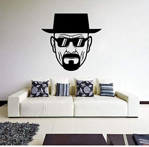 Wandaufkleber Aufkleber Wandbild für Mädchen Jungen Vinyl für Zuhause Kunst Dekor Zitate Sonnenbrille 40x38cm