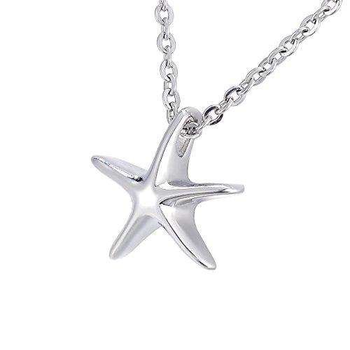 Estrella de mar colgante de urna Memorial cremación joyas pulsera de acero inoxidable cadena de 22'