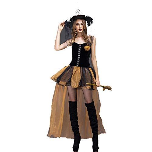 GYH Frauen Kleider Eraspooky Damen Renaissance Spinnen Hexe Halloween Kostüm,L