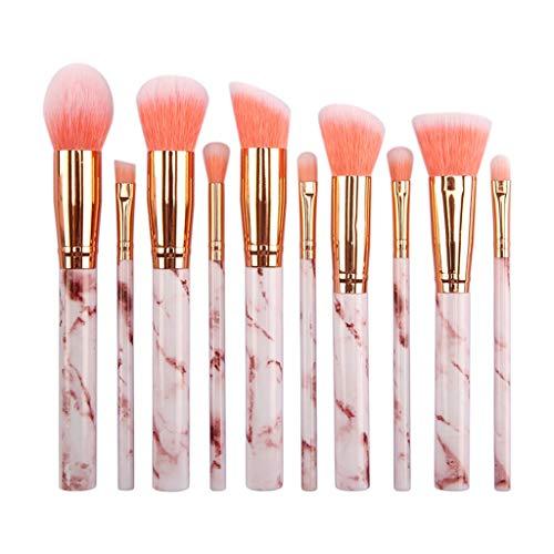 Sunhoyu Foundation Pinceau de maquillage 1/6/10 pièces Pro Pinceaux de maquillage Set Kabuki Foundation Poudre Eyeliner Eyeliner Ombre à paupières Cosmétique Pinceau Outil Cadeau de Noël
