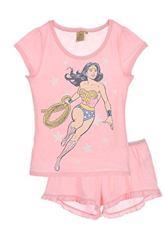 Wonder Woman Pelele para Dormir para Mujer, Rosa (LPINK 005), M