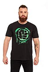 Hulk Fist Symbol T-Shirt schwarz XXL